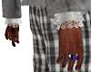 White Lace Cuffs