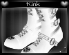 -k- White Stripey Boots
