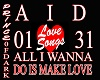 ALL I WANNA DO /LOVESONG