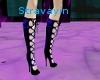 blue-blk corset heels