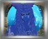 Tech blue  hair