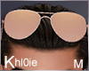 K rose gold sunglasses M