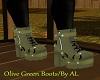 AL/F  Olive Green Boots