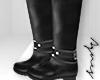 A. Black Knee-High Boots