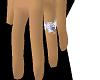 White Diamond Wed Ring