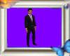 [M] suit black purple