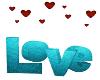 Love mit Posen Türkis