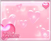 ! F. Pink Floaty Hearts