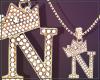 Gold Chain N Letter Fem