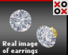 24K Diamond Bling Studs
