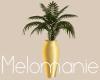 Gold Palm Vase