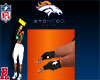Broncos Men Rider Gloves
