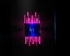 blue/pink sconce