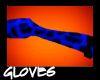Blue Leopard Gloves