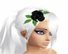 Black Rose Hair Piece