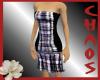 {C}Purple Plaid Dress