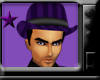 *purple gangster hat