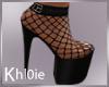 K cleo mesh blk heels