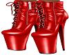 Red Latex Yeniz Boots