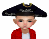 Kids black pirates hat