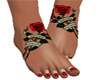 Red Rose Feet Tatto