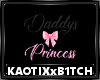 Daddys Princess Wall Art