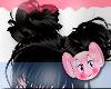 Hair / black hair