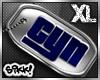 602 XL Silver Cyn Tag