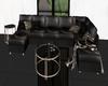 black modern couch