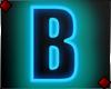 Neon Letter B