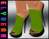 e/. Lime Suede Mules