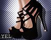 [Yel] Black Mia heels