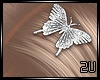 2u Butterfly Hairclips