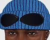 Goggle Beanie Blue