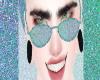 Glitter sky blue glasses