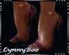 *Rene Purple Clear Heels