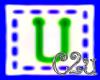 C2u letter U Sticker