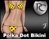 Yello Polka Dot Bikini
