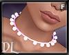 {DL} Pearl Choker Pink