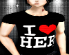 I <3 HER Couples T-shirt