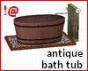 !@ Antique bath tub