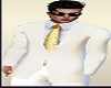 Male Avatar White Suit Gold Tie Formal