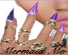 Purple Custm Bling Nails