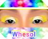 rainbow yellow eyeshadow