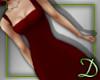 [D] Pencil Dress, red