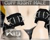 +KM+ PVC Cuff Blk R MALE