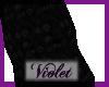 ( V) black legwarmers