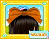 KID ORANGE HAIR BOW