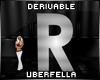 Derivable Letter R