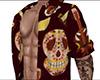 Sugar Skull Open Shirt M